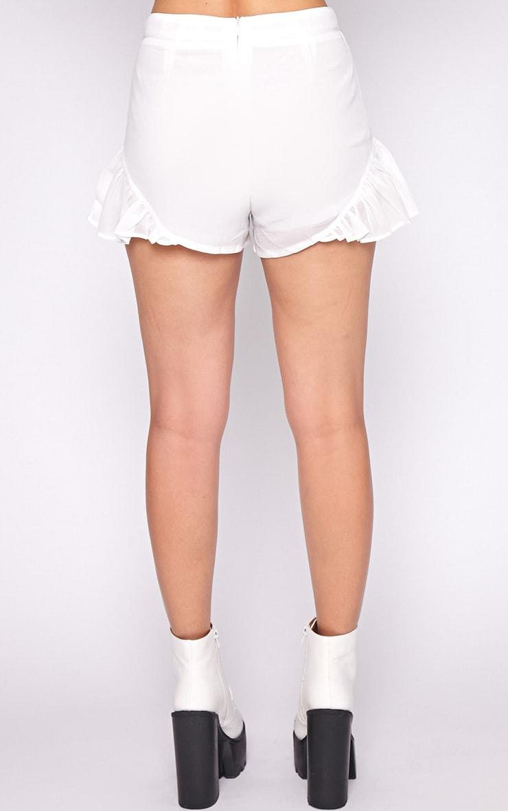 Milena White Frill Short 4