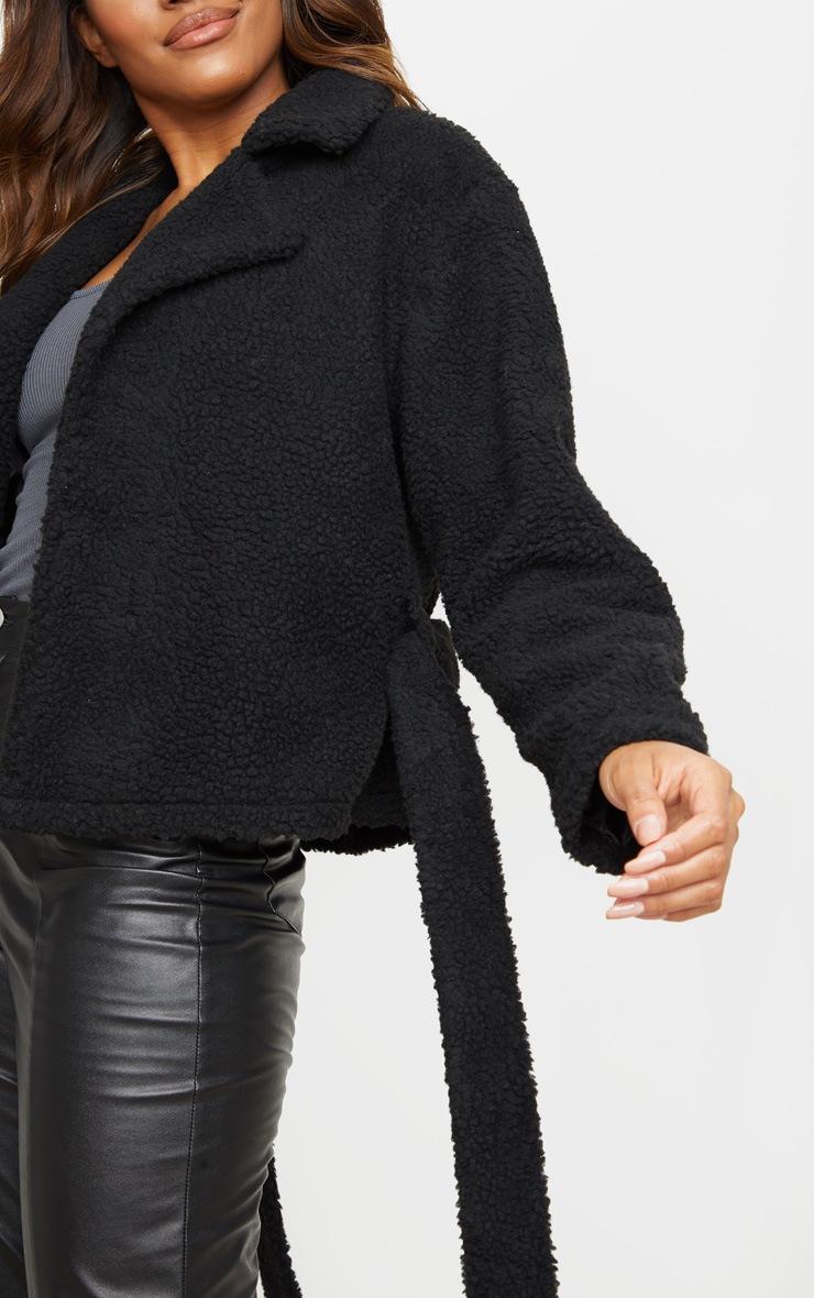 Black Borg Tie Waist Jacket 5