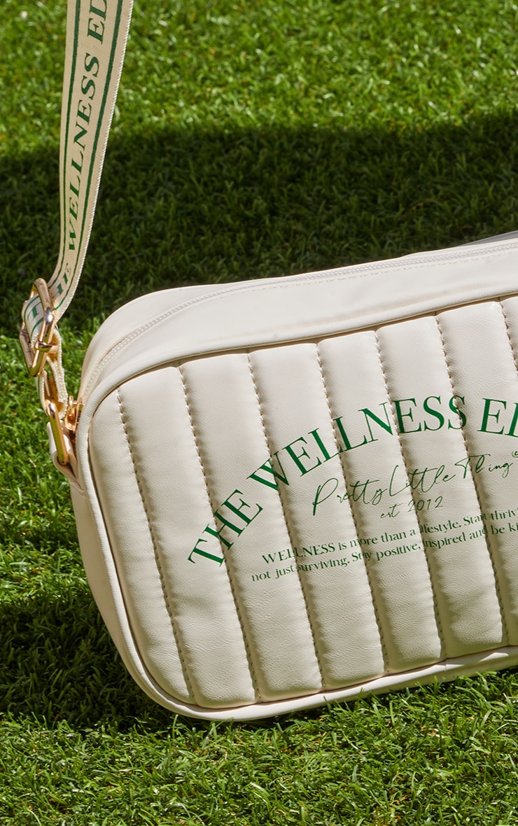 PRETTYLITTLETHING Cream Wellness Crossbody Bag 3