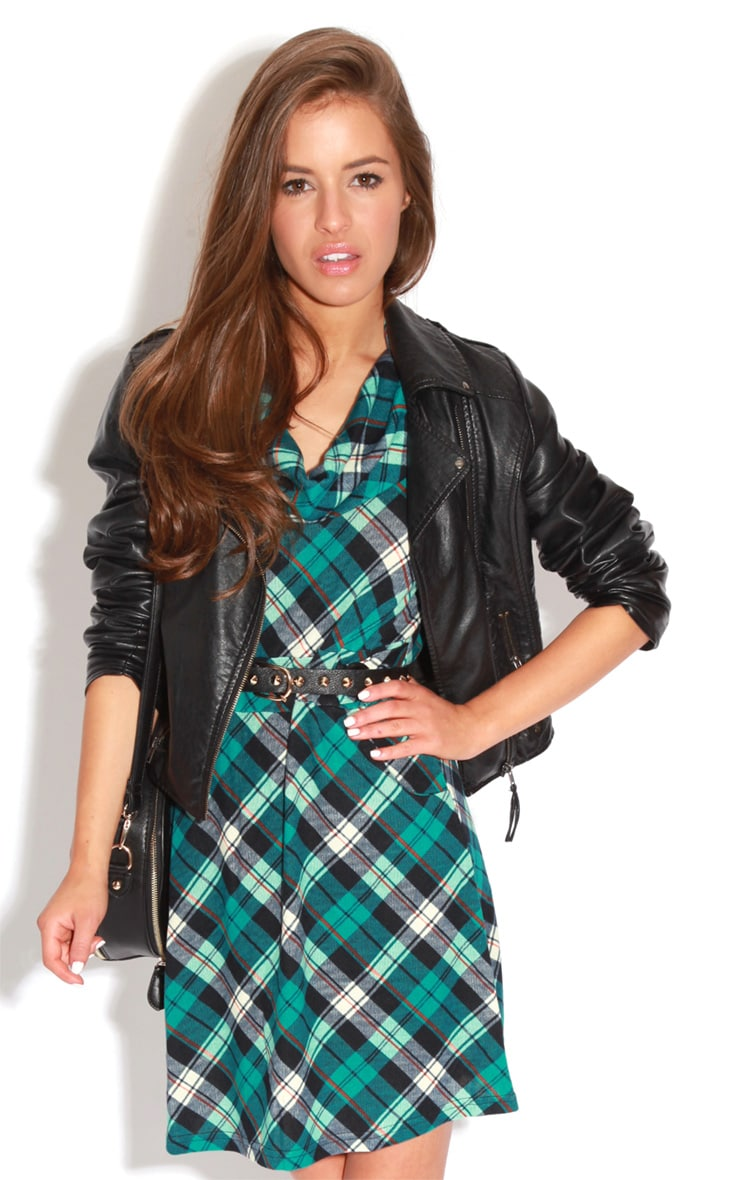 Addie Blue Tartan Dress  4