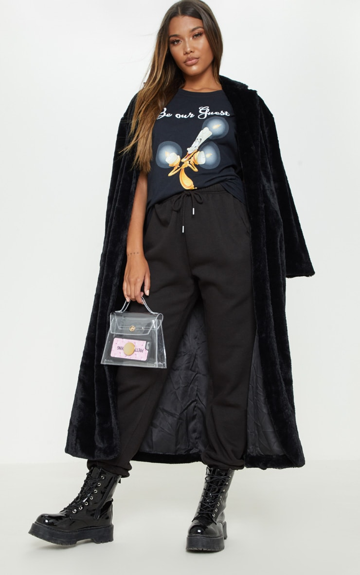 Black Lumiere Printed Oversized T Shirt 1