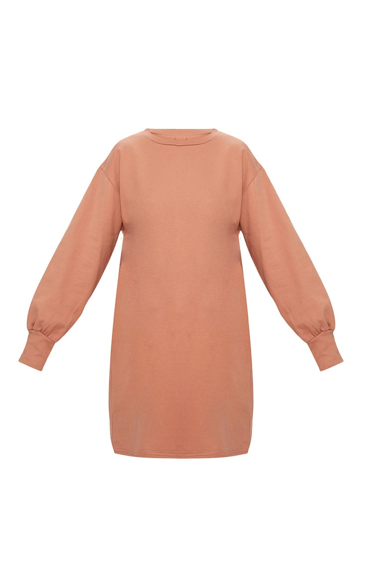 Deep Peach Oversized Sweater Dress 3