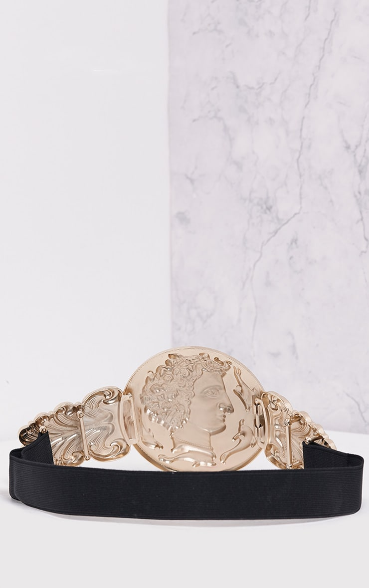 Alexius Gold Oversized Coin Detail Belt 4