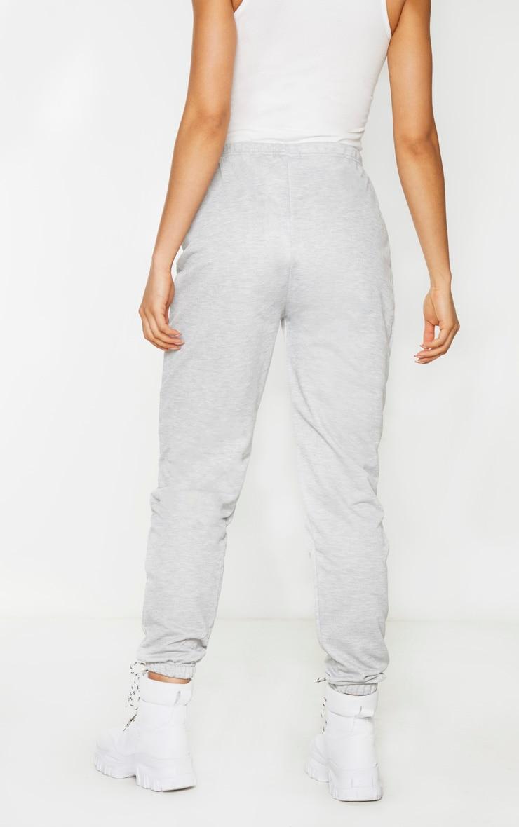 Tall Grey Basic Cuffed Hem Joggers 3
