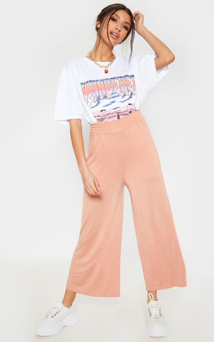 Peach Basic Culotte 1