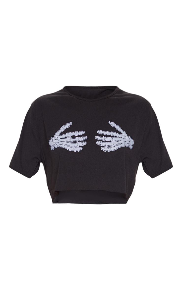 Skeleton Hands Cropped Pyjama Short Set 3