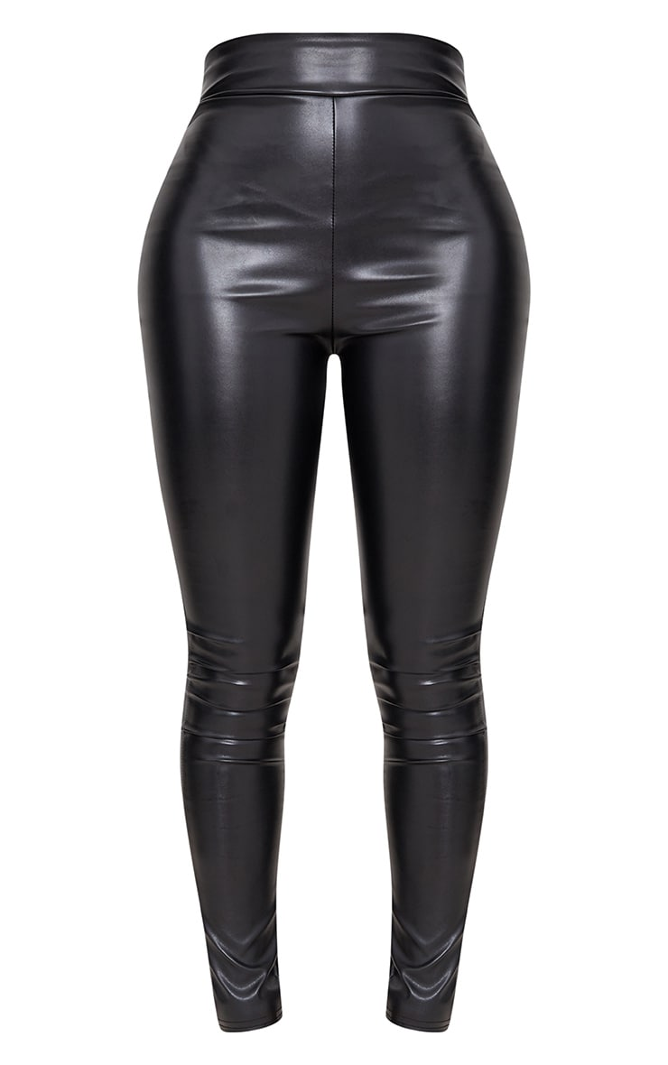 Shape Black Matte PU Leggings 3