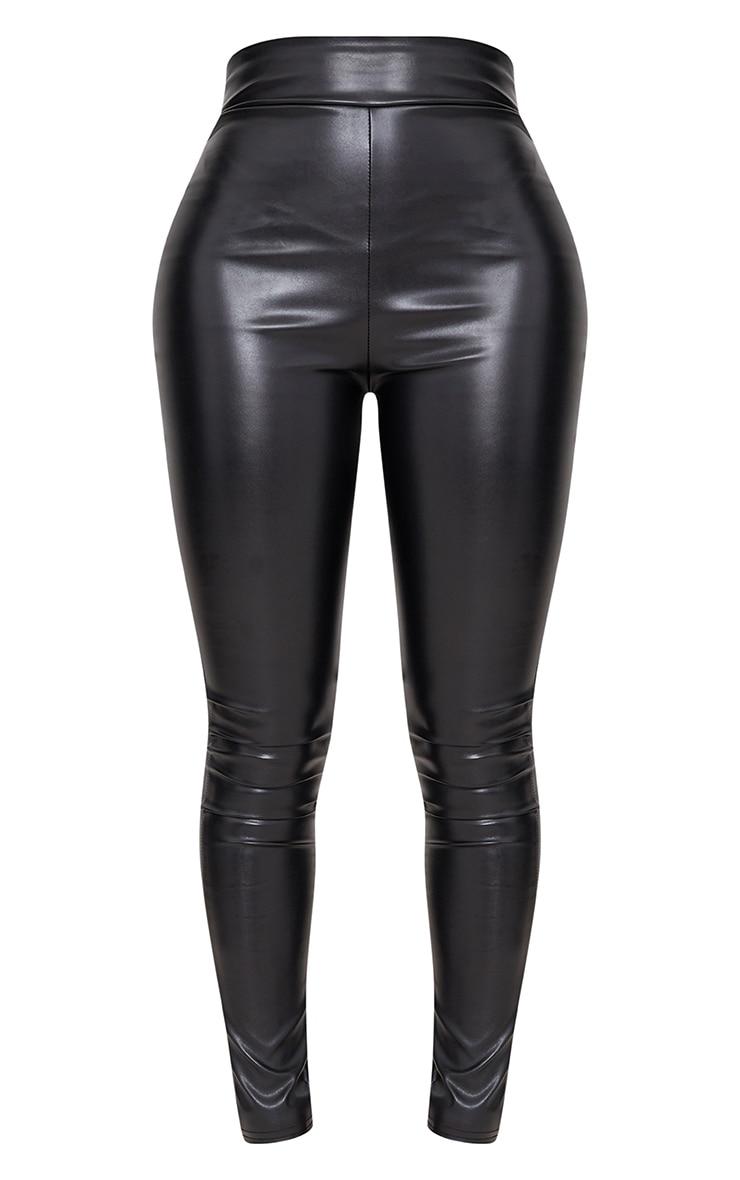 Shape Black Matte PU Leggings 3