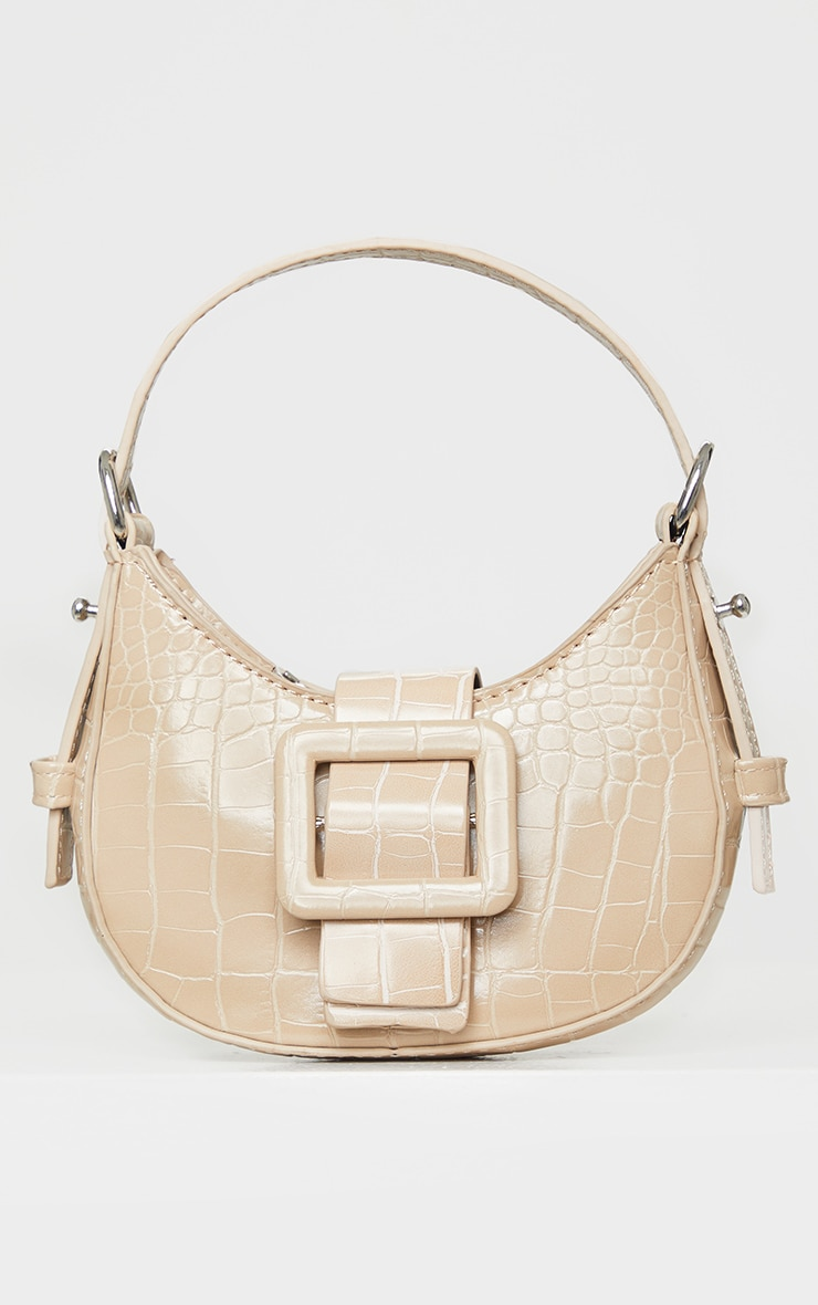Nude Croc Mini Buckle Grab Bag 1