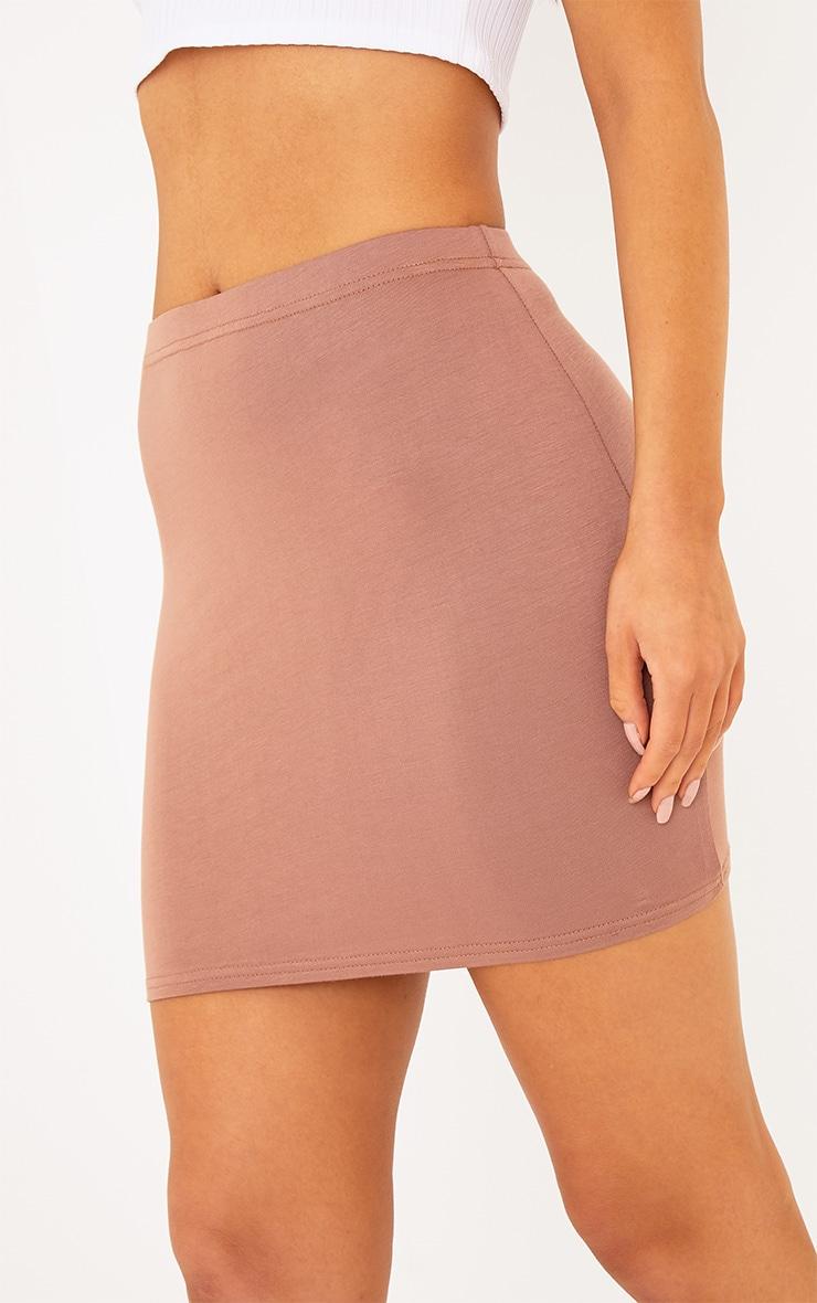 Basic Camel Mini Skirt 6