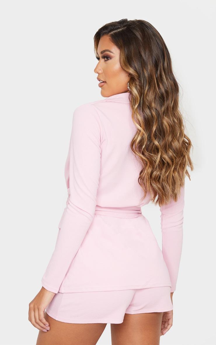 Pink Belted Pocket Detail Blazer 3
