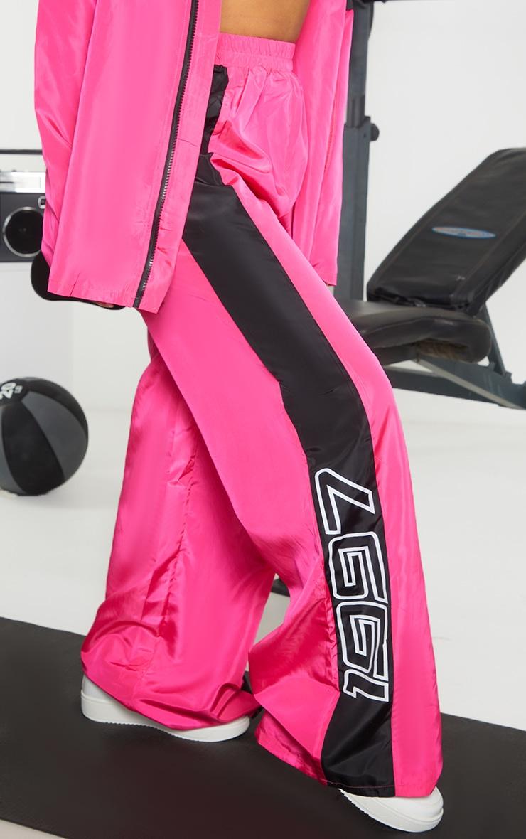 Petite Pink Nylon 1997 Straight Leg Sports Joggers 2