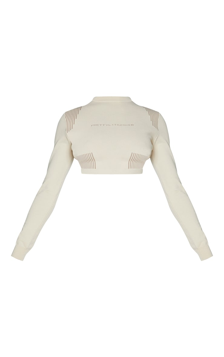 PRETTYLITTLETHING Stone Long Sleeve Top 5