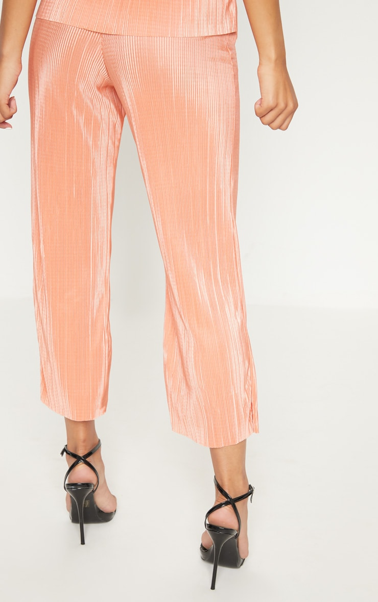 Orange Plisse Pleated Culottes 4