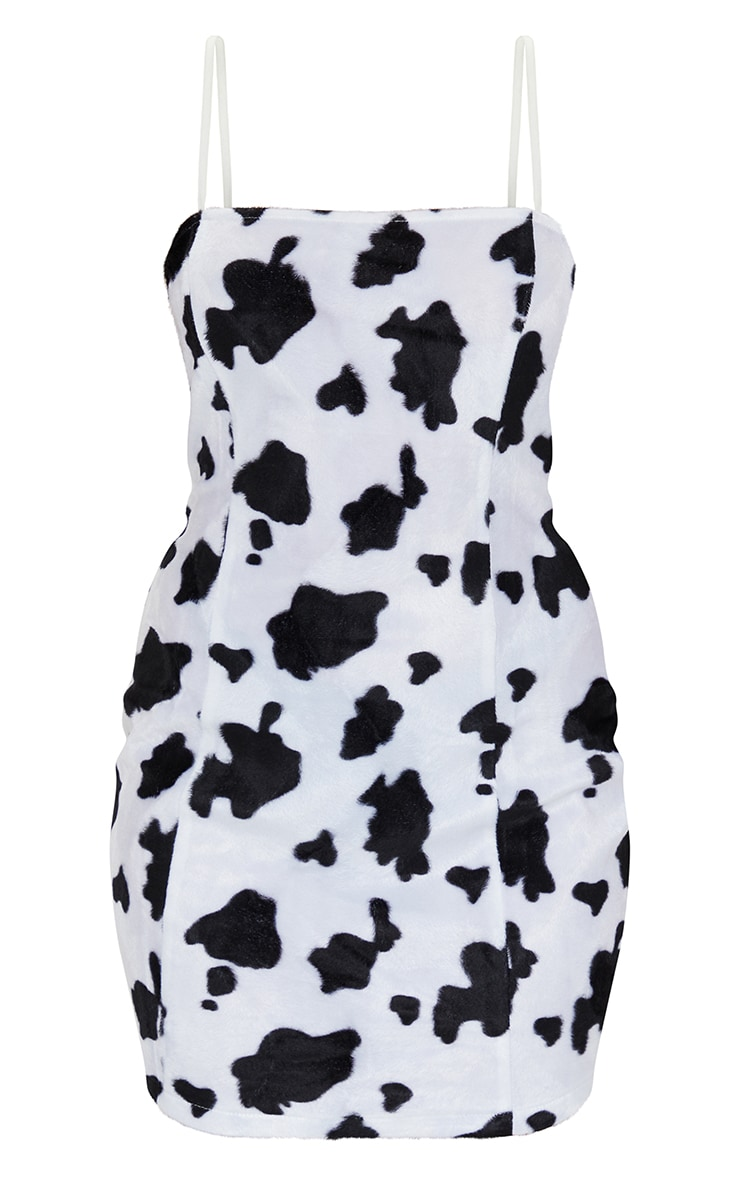 Petite Cow Print Strappy Mini Dress 5