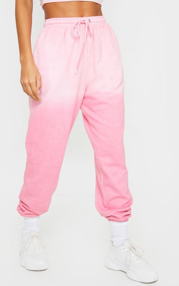Pink Dip Dye Casual Jogger 2