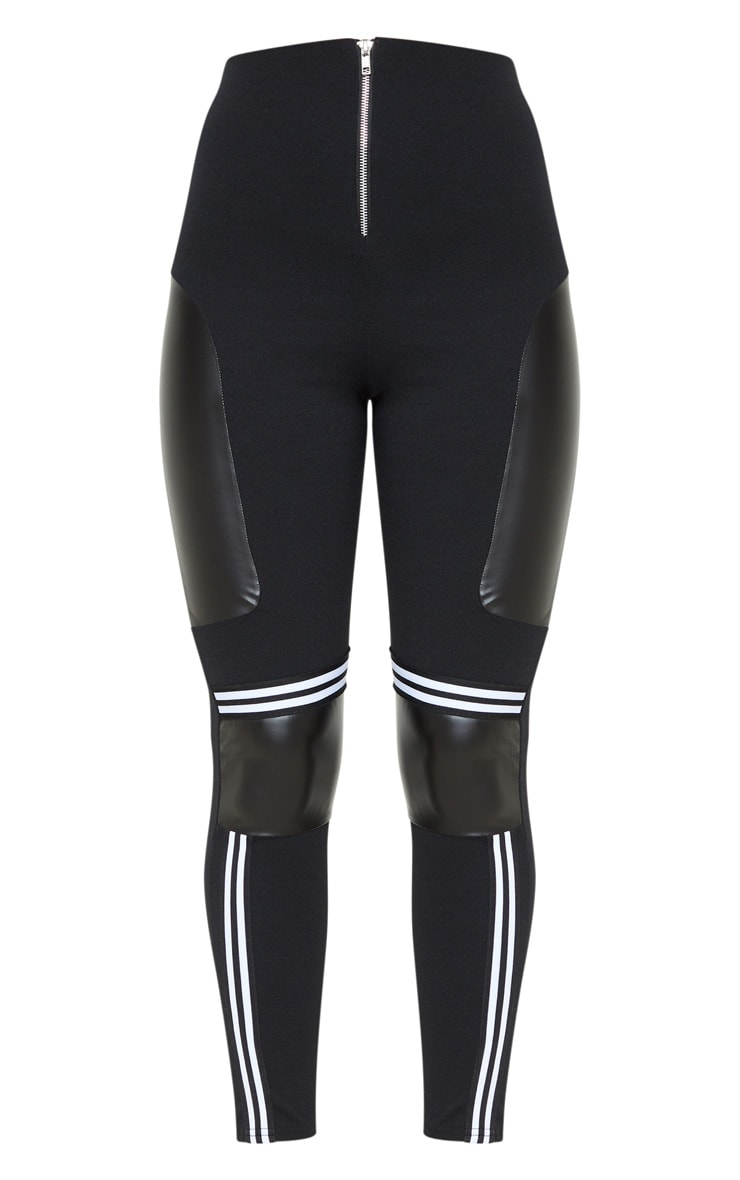 Black Motocross Panelled Trousers  3