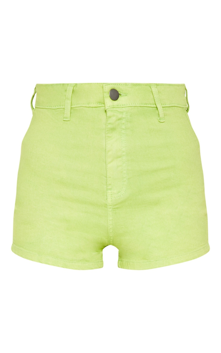 Lime Disco Shorts  3