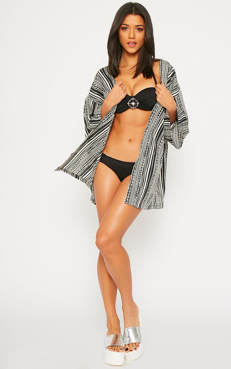 Iris Black Jewel Bikini Top  3