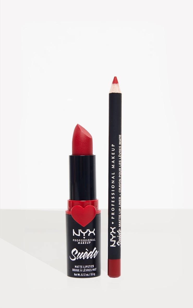 NYX PMU  Disco Mix Lip Kit - Spicy Red Matte Lip Christmas Giftset 1