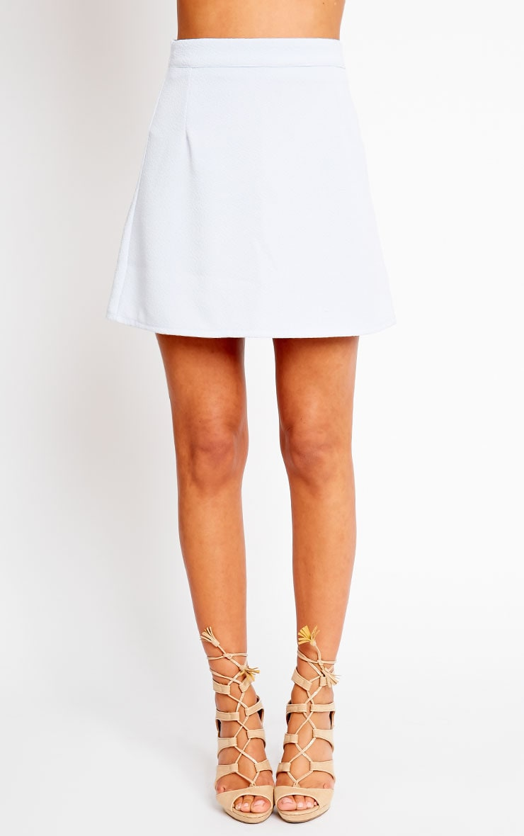 Rori Powder Blue Crepe A Line Mini Skirt 2