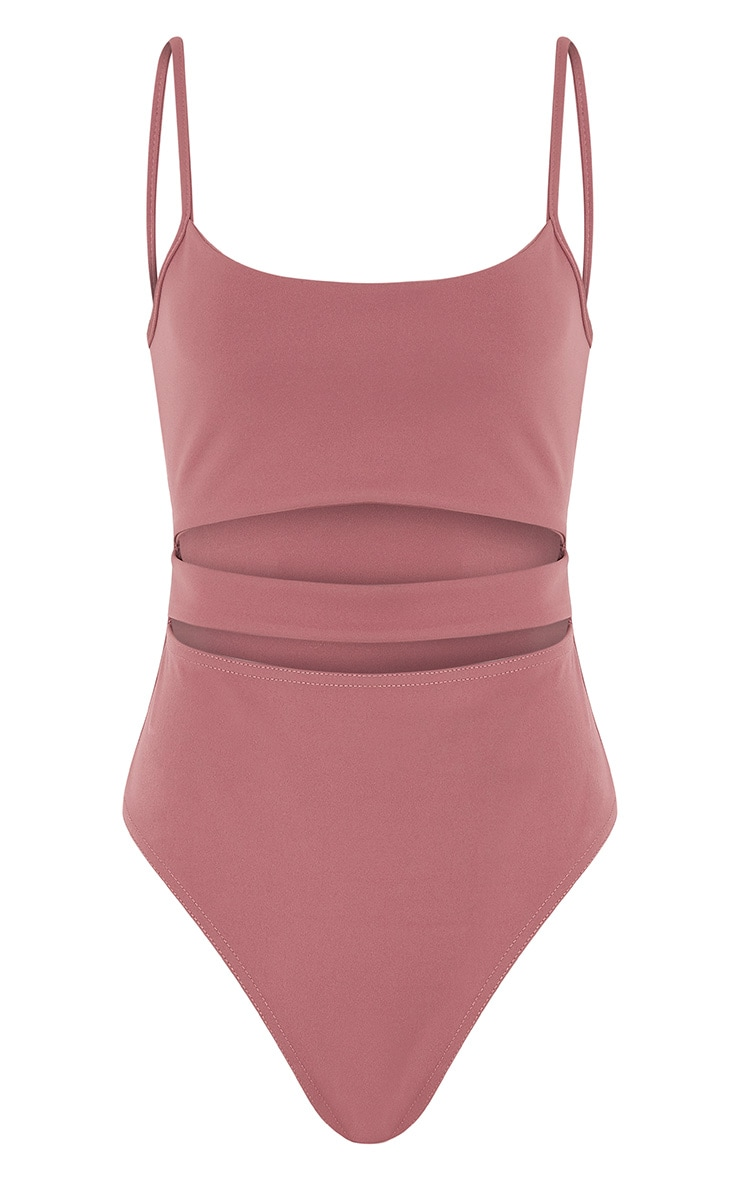 Amora Rose Cut Out Thong Bodysuit 3