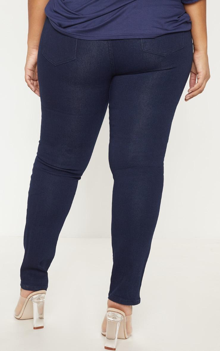 Plus Mid Wash Pocket Detail Skinny Jeans 4