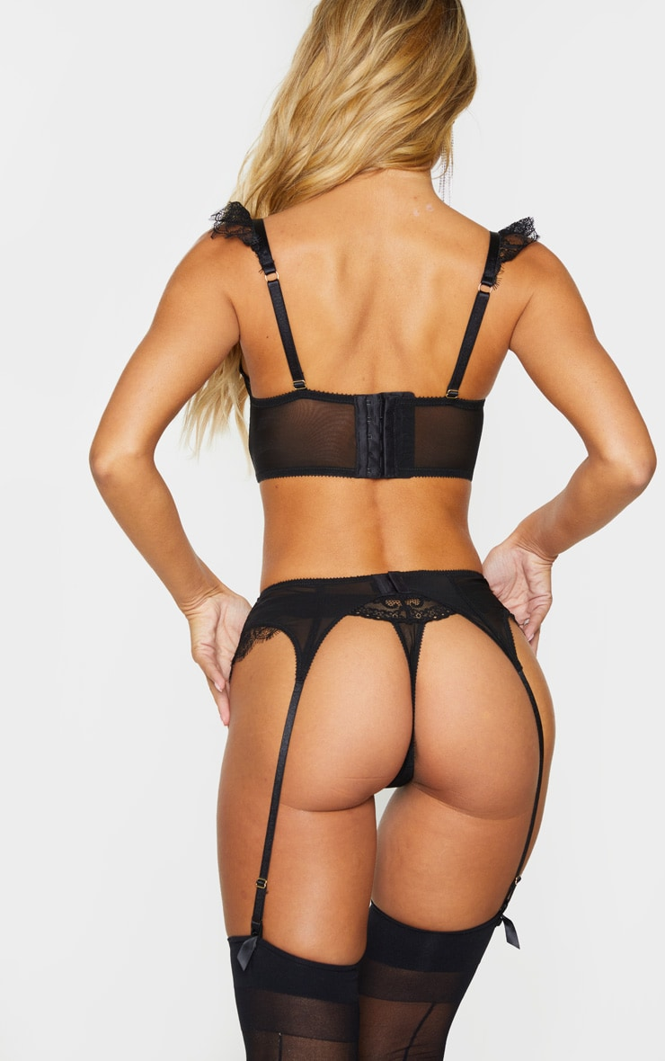 Black Ann Summers Eyelash Lace Thong 3