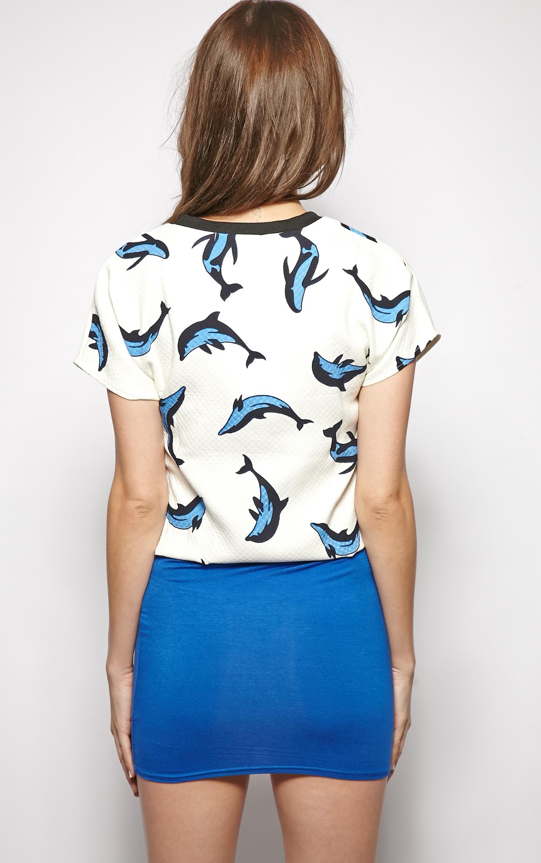 Ariel Dolphin Print Box Crop Top  2