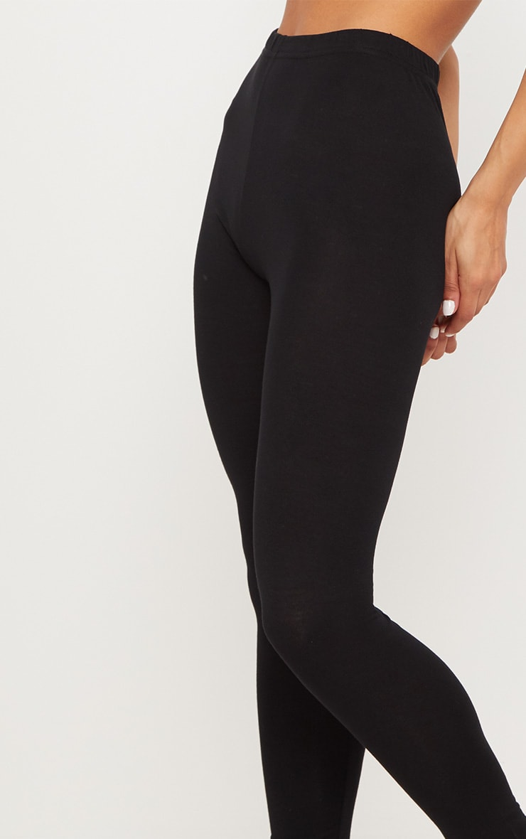 Black and Grey Basic Cotton Blend 2 Pack Jersey Legging 7