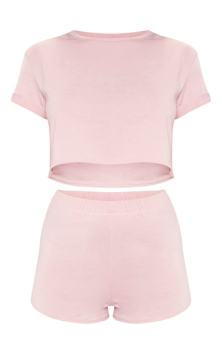 PRETTYLITTLETHING Pink PJ Short Set 3