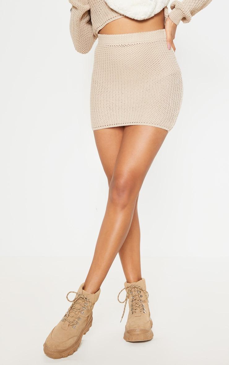 Cream Crochet Knit Co Ord  3