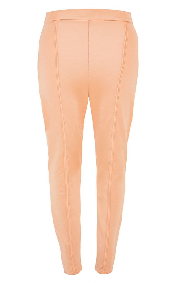 Peach Second Skin Piping Detail Skinny Trousers 3