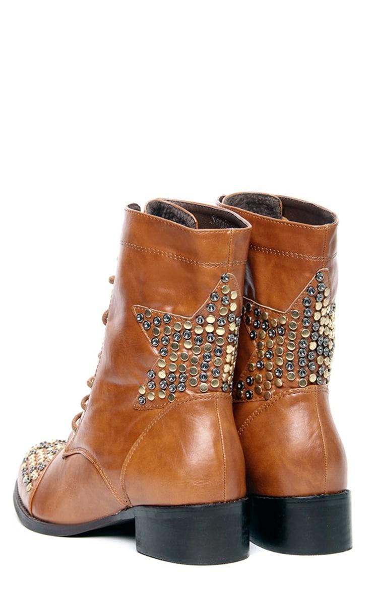 Roxanna Star Stud Biker Boots 3