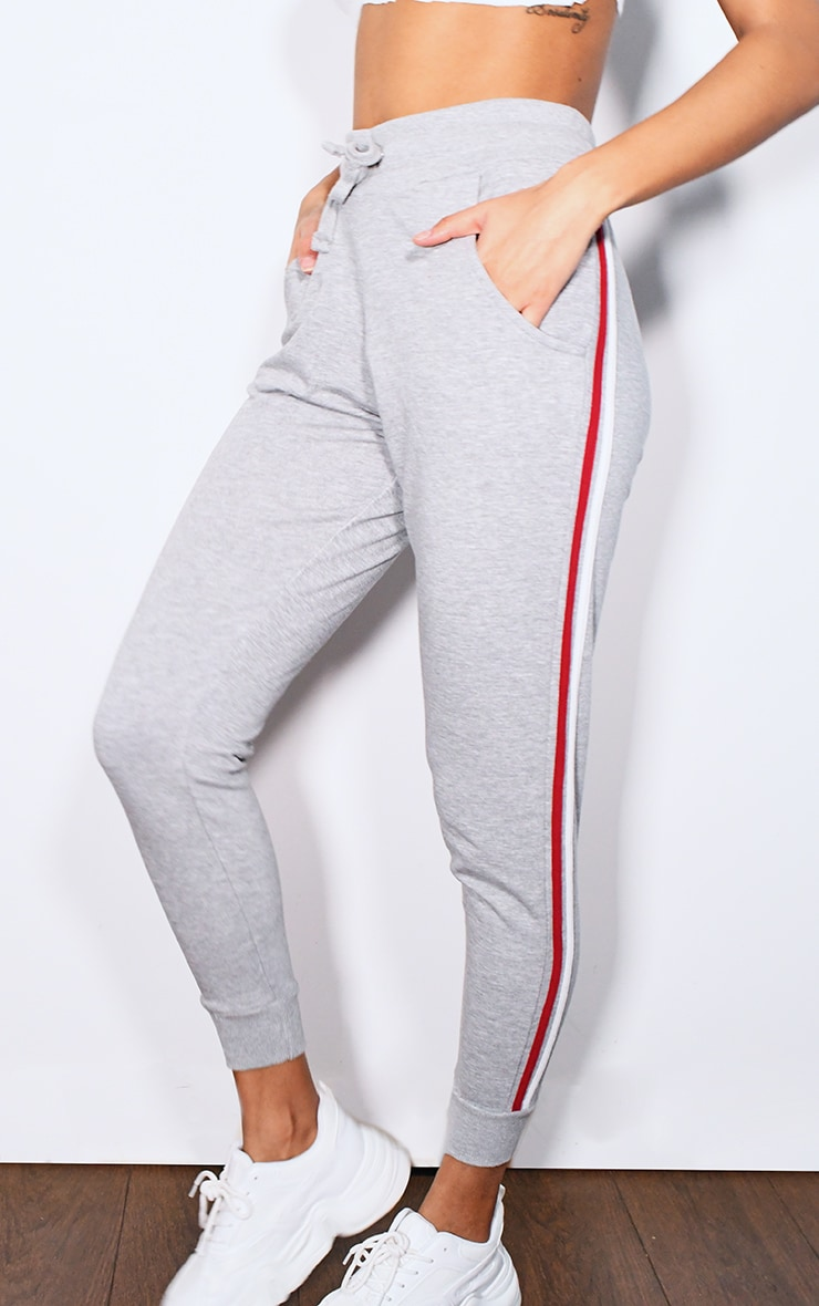Grey Side Stripe Detail Joggers 2