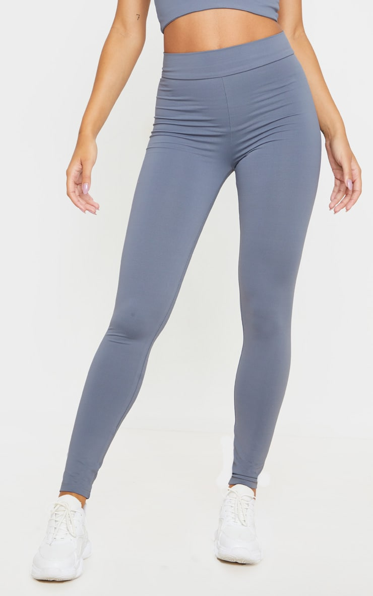 Charcoal Luxe High Waist Gym Legging 2