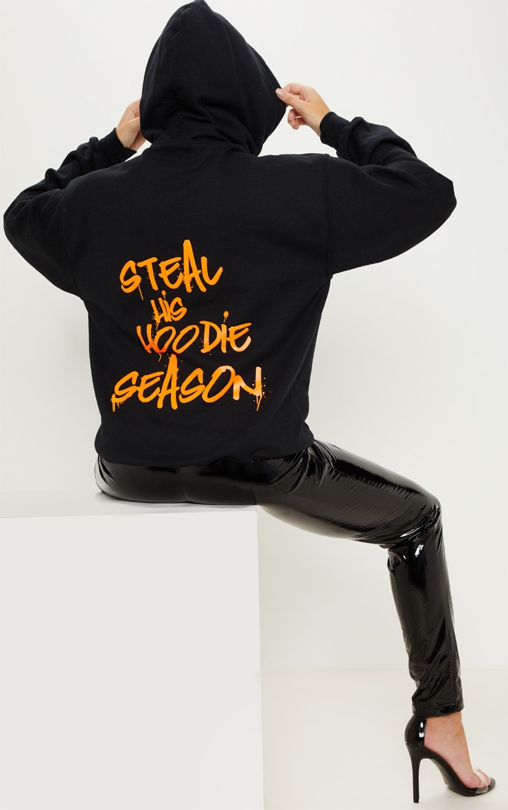 Black Steal His Slogan Hoodie 5