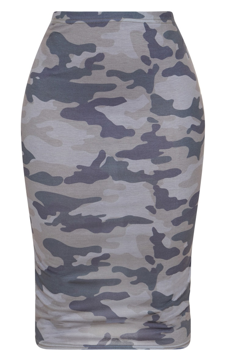 Shape Grey Camo Midi Skirt 3
