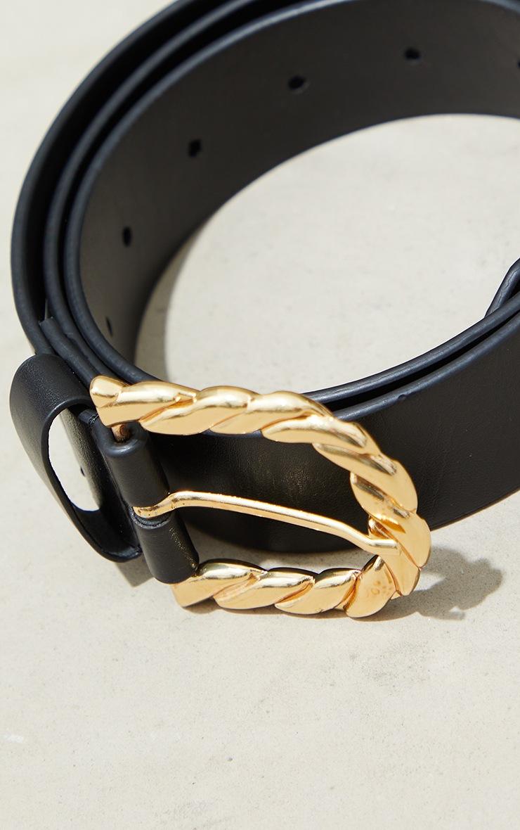 Gold Twist Round Buckle Waist Belt 3