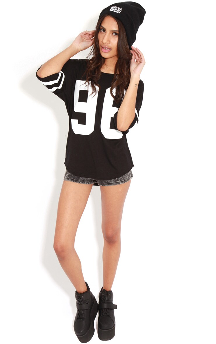 Ryleigh Black 96 Cut Out Shoulder Tee 3