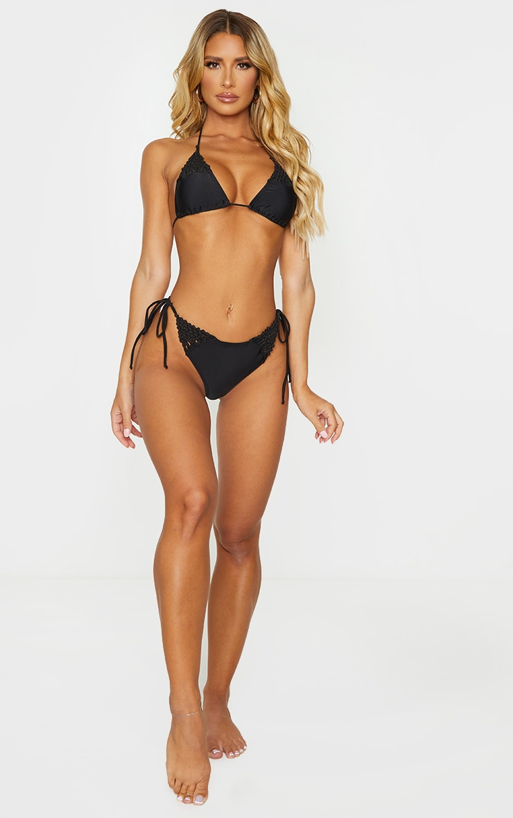 Black Crochet Triangle Bikini Top 3