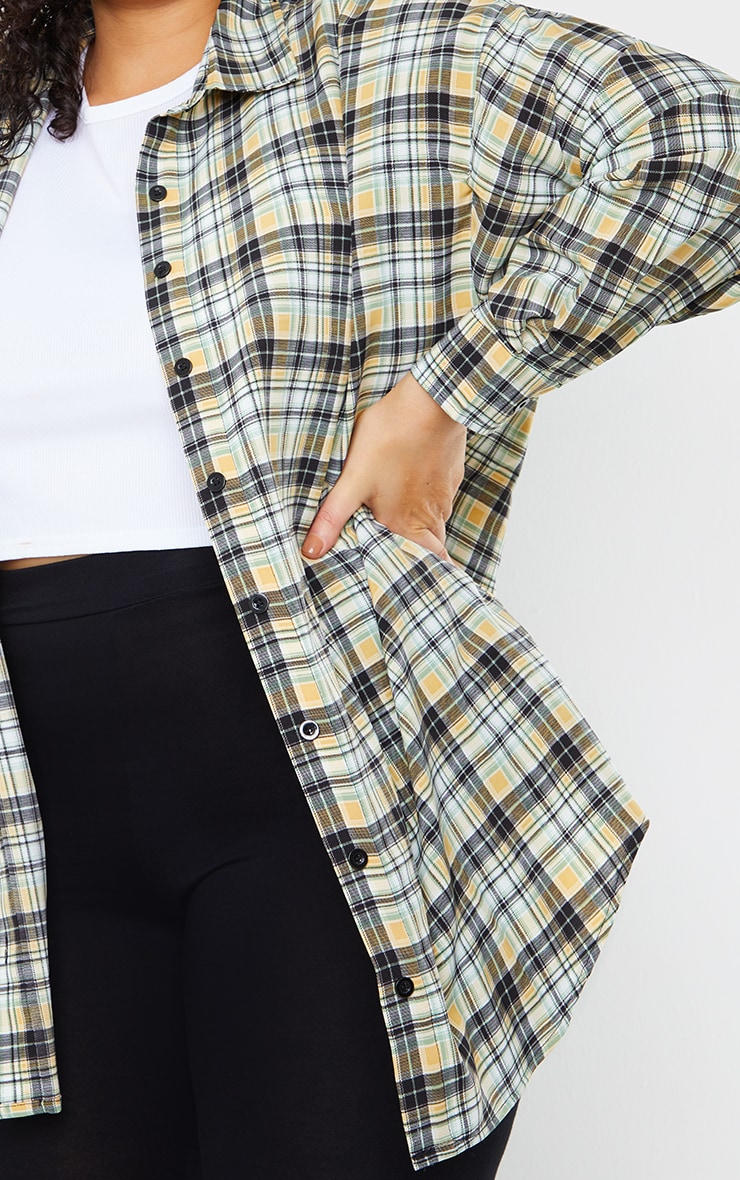 Plus White Check Batwing Shirt 4