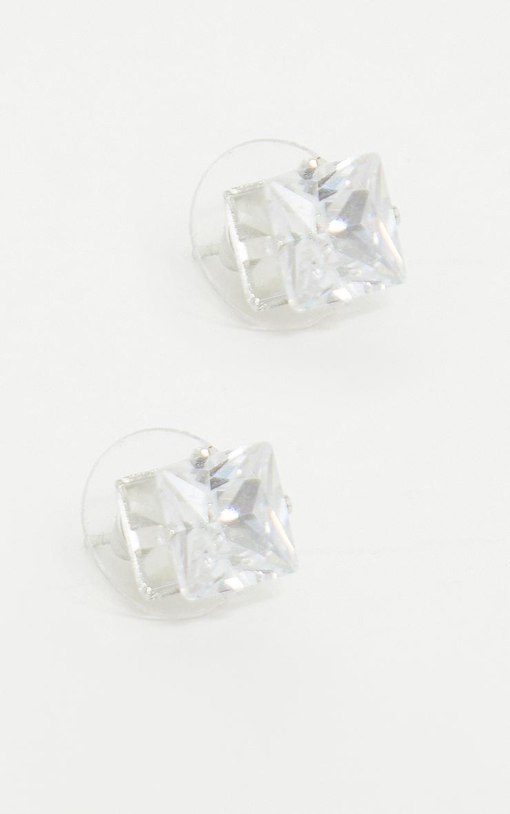 Valeane clous d'oreilles argent en cristal 2