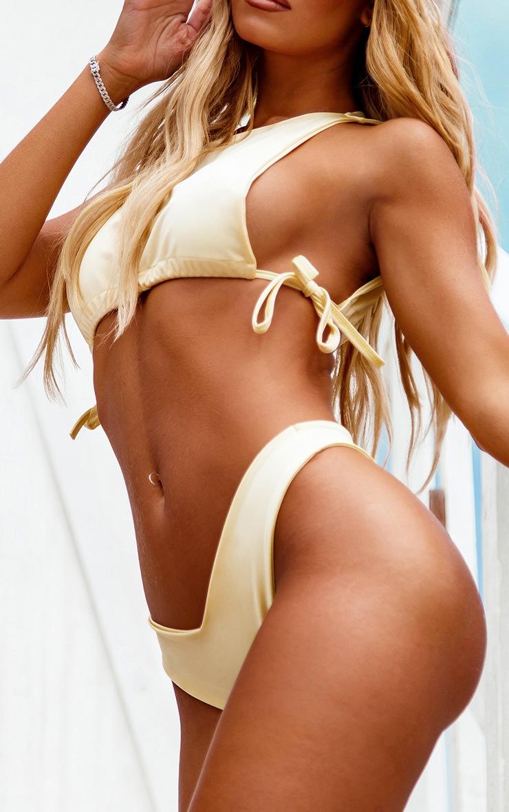 Lemon High Neck Side Boob Bikini Top 4