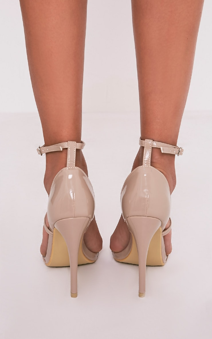 Amelia Nude Patent Strappy Heeled Sandals 4