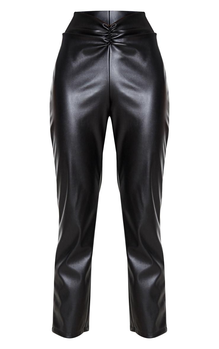Black Faux Leather Trouser  3