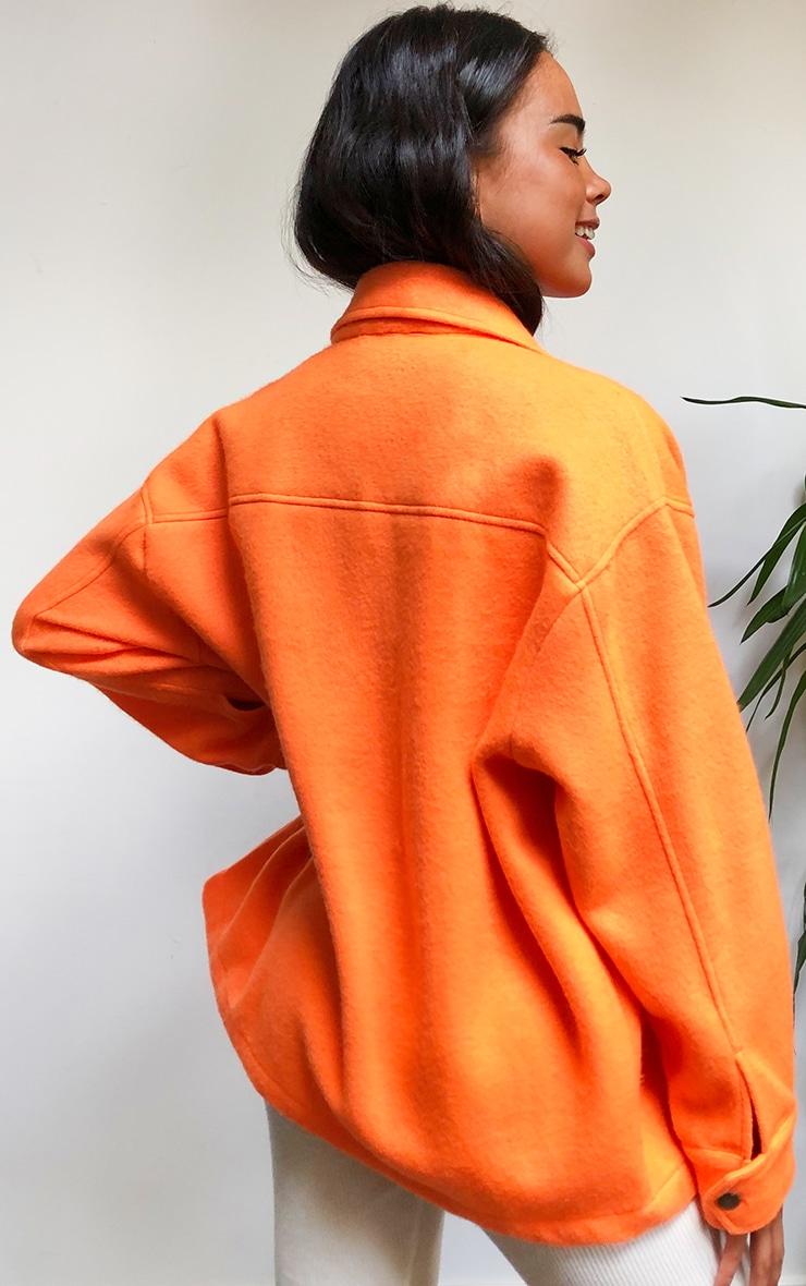 Orange Pocket Front Shacket 2