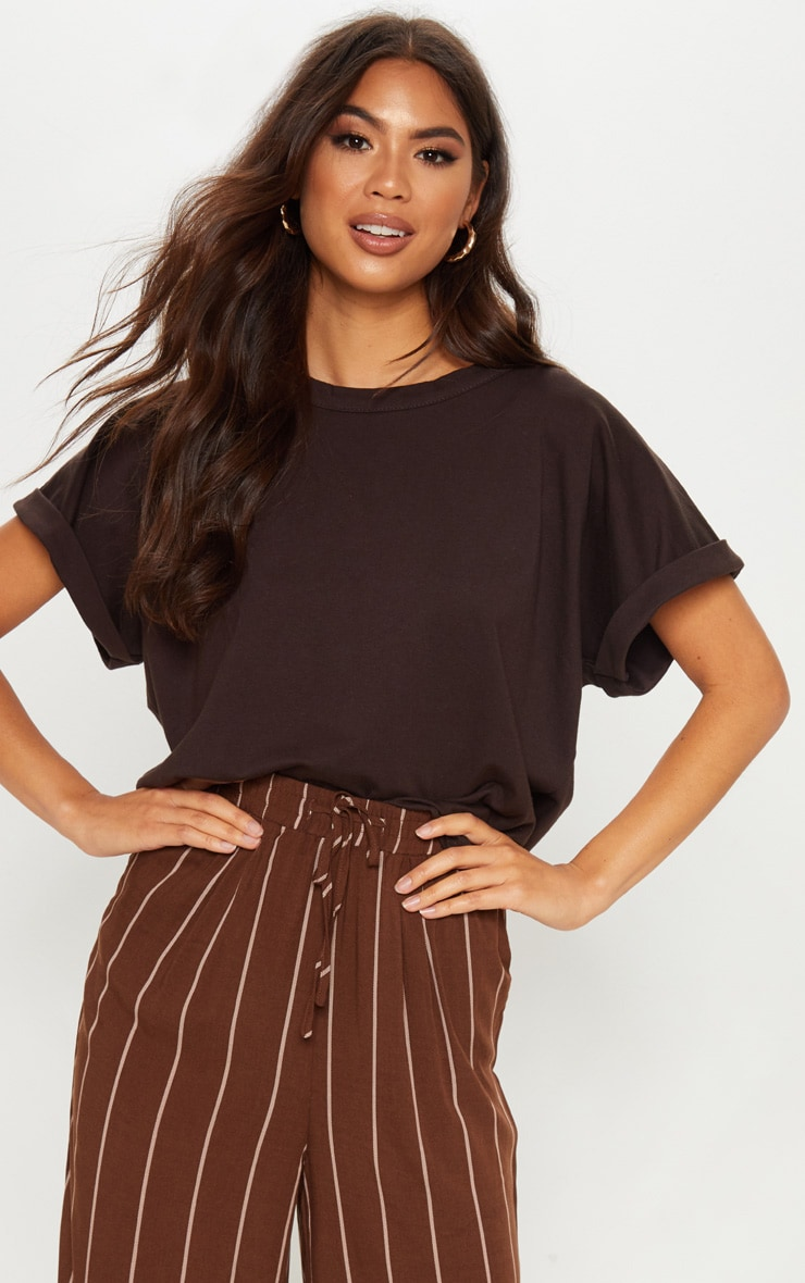 Chocolate Low Arm T Shirt 1