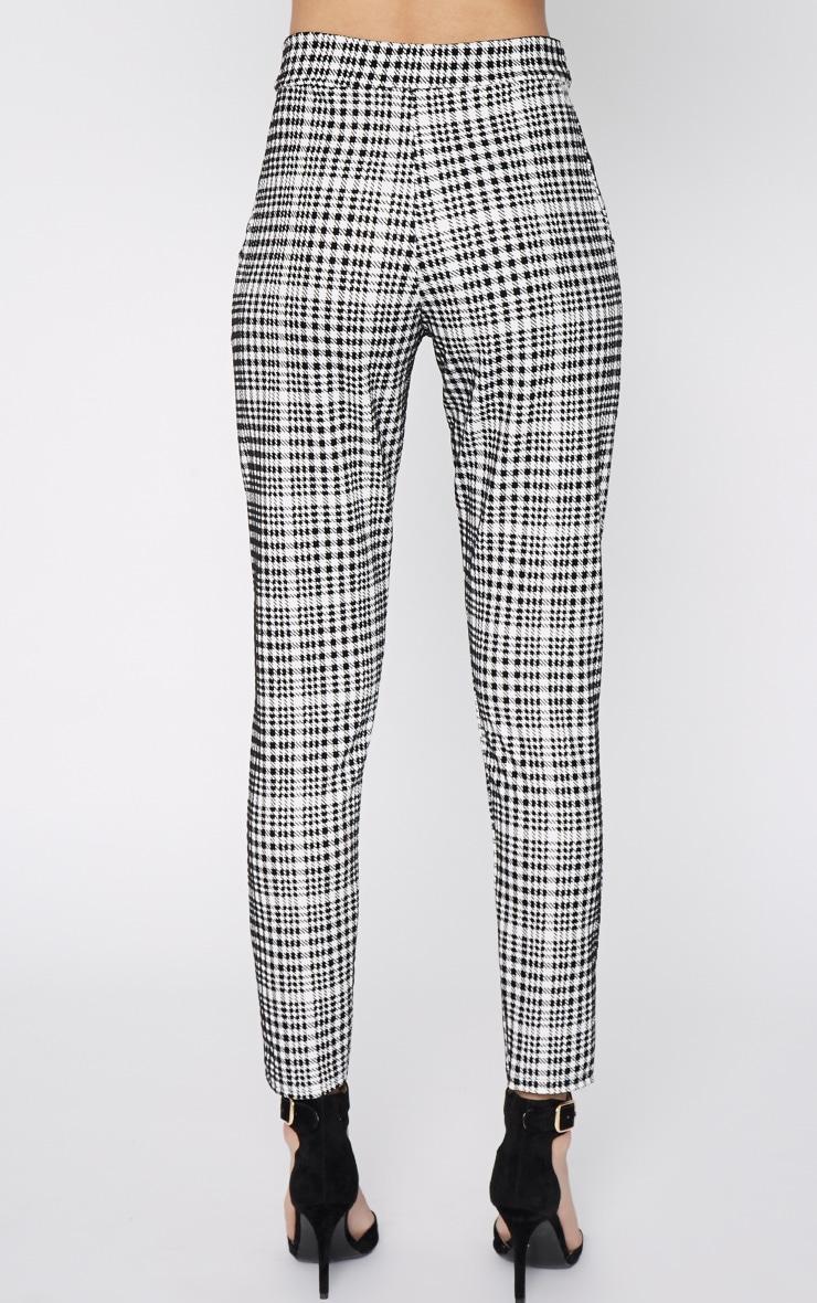 Salma Monochrome Velvet Dogtooth Trouser 8