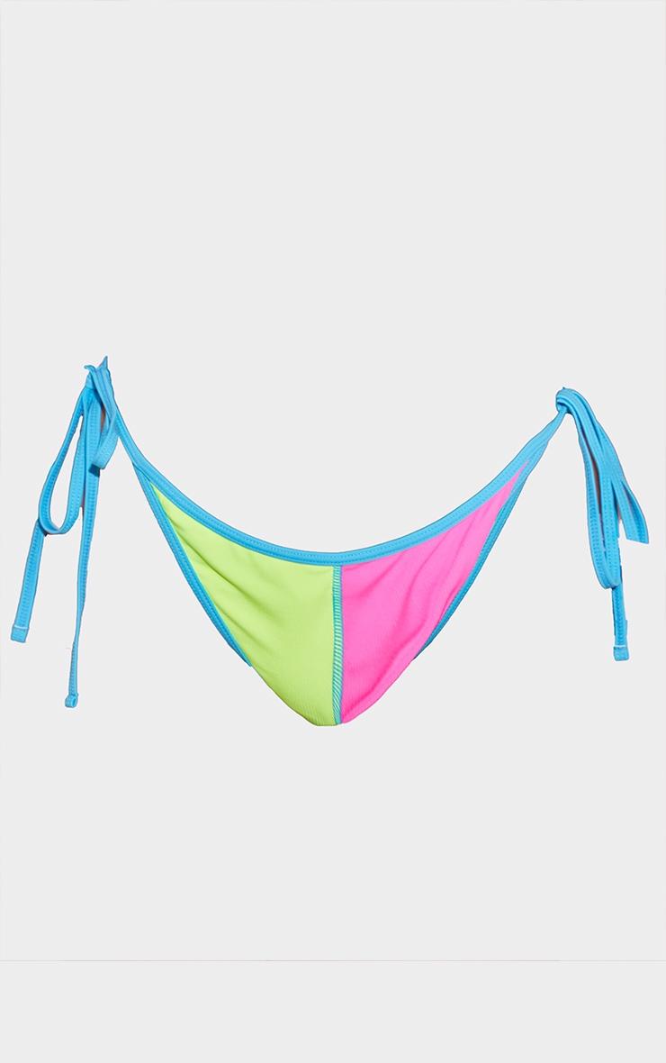 Plus Neon Stripe Bikini Bottoms 5